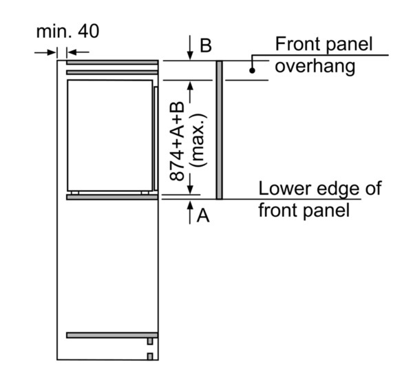 Bosch Kir21ad40 Einbau Kuhlschrank Energieeffizienzklasse A