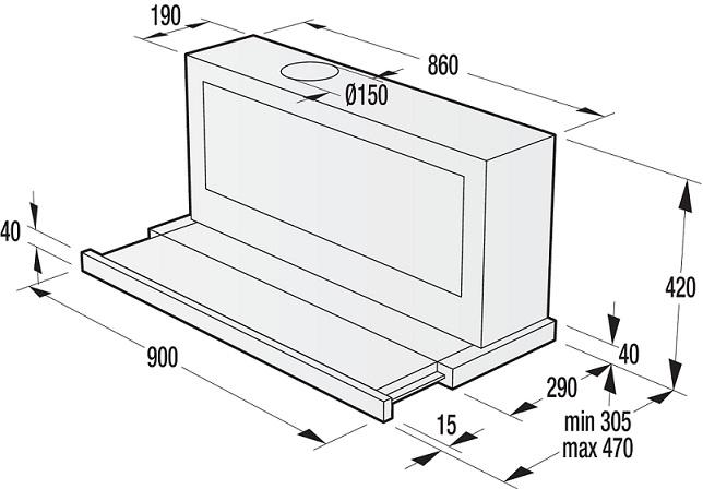 informationsseite h ttich gorenje bhp923e8x flachschirm dunstabzugshaube. Black Bedroom Furniture Sets. Home Design Ideas