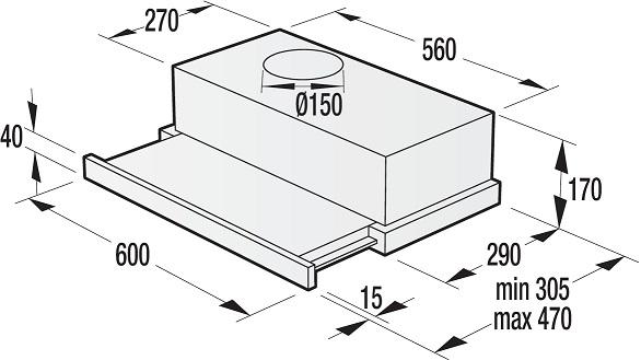 gorenje bhp623e11x flachschirm dunstabzugshaube energieeffizienzklasse c. Black Bedroom Furniture Sets. Home Design Ideas