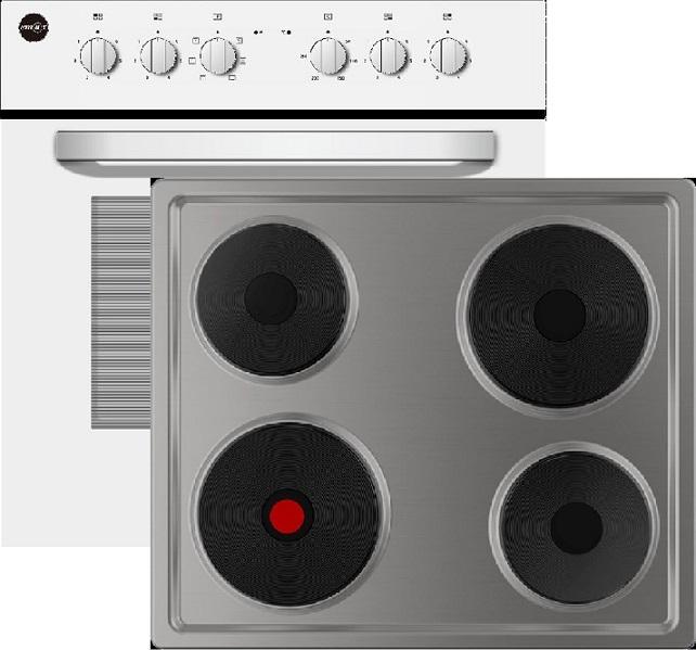 Emax Elektro-Einbauherd Set EHS42-4KP & EM64-1 Plattenkochfeld/ Herd Energieeffizienzklasse A