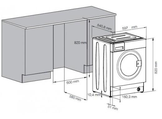 beko wmi 71443 pte einbau waschmaschine energieeffizienzklasse a. Black Bedroom Furniture Sets. Home Design Ideas