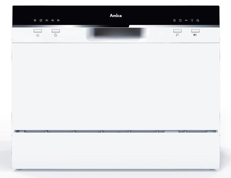 Amica GSP14559W Tisch-Geschirrspüler/ Energieeffizienzklasse A+