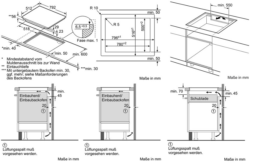 Relativ Siemens EX801LVC1E Induktionskochfeld iQ 700 | Gasherd.de OR87
