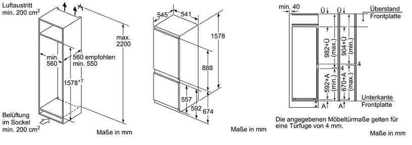 siemens ki77vvs30 einbau k hl gefrierkombination iq300 energieeffizienzklasse a spektrum a. Black Bedroom Furniture Sets. Home Design Ideas