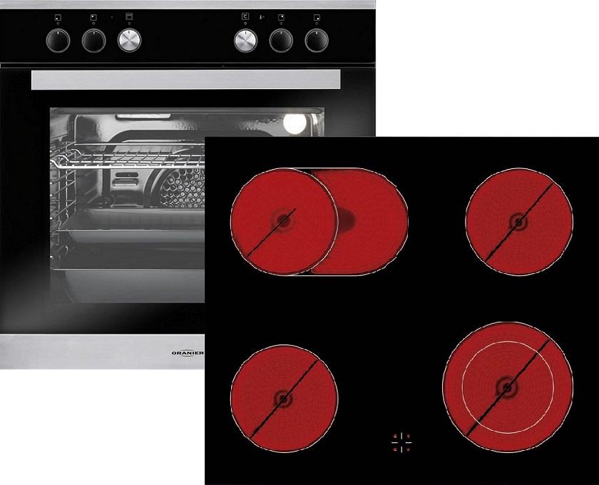 Oranier Herd-Set 2 990602 EBH992308 & KFC986608 Elektro-Einbauherd + Glaskeramikkochfeld/ Energieeffizienzklasse A