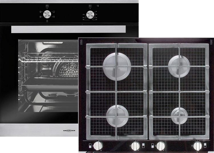 oranier ebs9911 06 elektro einbaubackofen gfc2764 gaskochfeld glaskeramik backofen. Black Bedroom Furniture Sets. Home Design Ideas