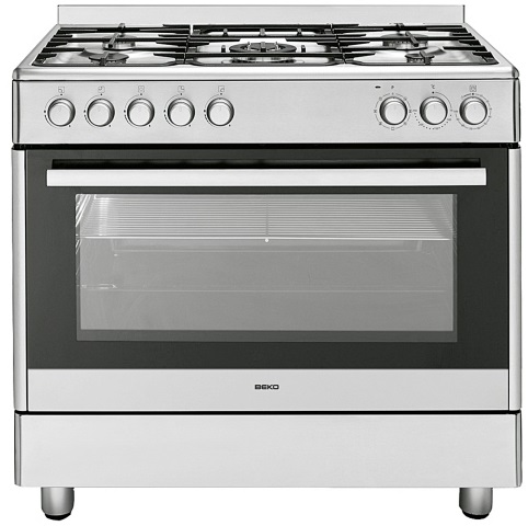Beko GM15020DX Gasherd mit Elektrobackofen, Kochcenter/ Energieeffizienzklasse  B