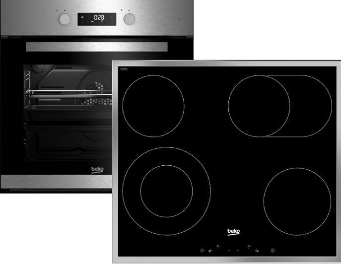 Beko BSM22320 X Elektro-Einbaubackofen Set/ Backofen Energieeffizienzklasse A