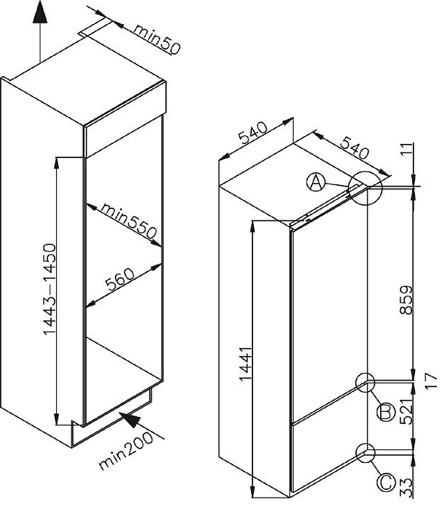 informationsseite h ttich amica ekgc 16156 einbau k hl. Black Bedroom Furniture Sets. Home Design Ideas