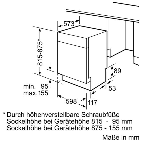Bosch SMU46IS03E Unterbau Geschirrspüler/ Energieeffizienzklasse A++