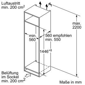 bosch kiv67vs30 einbau k hl gefrierkombination energieeffizienzklasse a. Black Bedroom Furniture Sets. Home Design Ideas