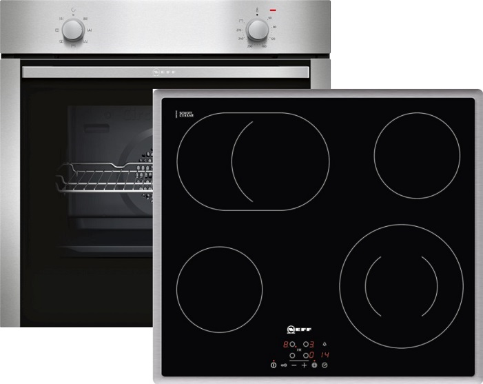 neff xb16 elektro einbaubackofen set mit glaskeramikkochfeld backofen energieeffizienzklasse a. Black Bedroom Furniture Sets. Home Design Ideas