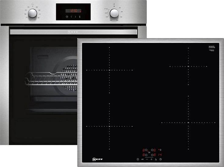 Neff XB46PI Elektro-Einbaubackofen Set mit Induktionskochfeld/ Backofen Energieeffizienzklasse A