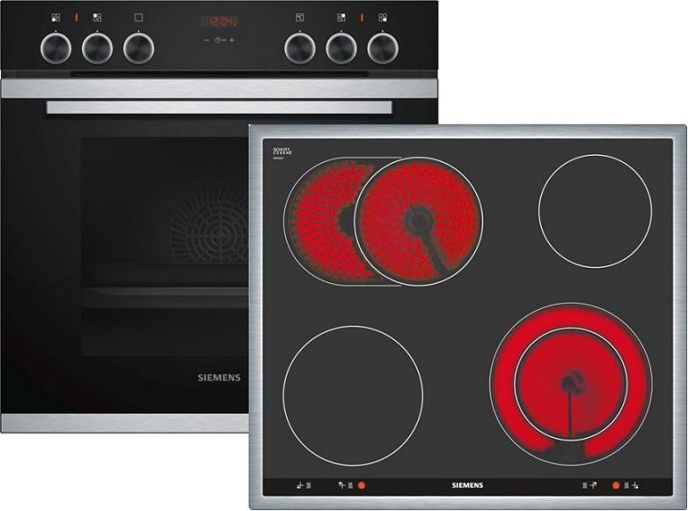 Siemens EQ211KB00 Elektro-Einbauherd Set mit Glaskeramikkochfeld/ Herd Energieeffizienzklasse A