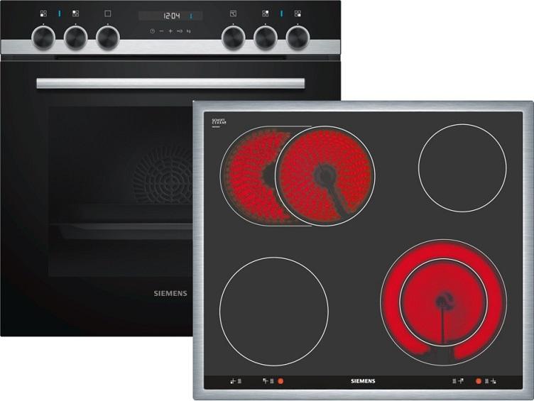 Siemens EQ521KA00 Elektro-Einbauherd Set mit Glaskeramikkochfeld/ Herd Energieeffizienzklasse A