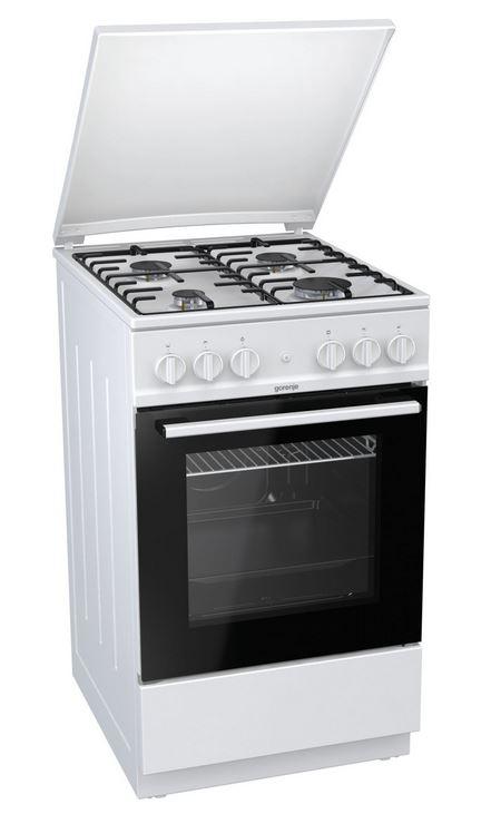 Gorenje GI5126WH Gasherd mit Gasbackofen Standherd weiß 729995/ Energieeffizienzklasse A