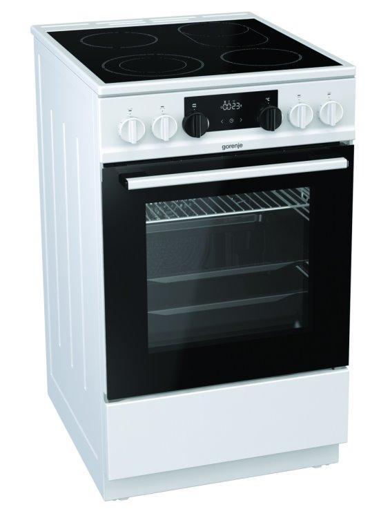 Gorenje EC5351WA Elektroherd mit Glaskeramik-Kochfeld weiß/ Energieeffizienzklasse A