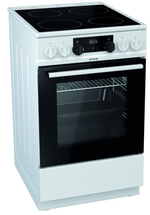 Gorenje EC5341WG Elektroherd mit Glaskeramik-Kochfeld Weiß/ Energieeffizienzklasse A