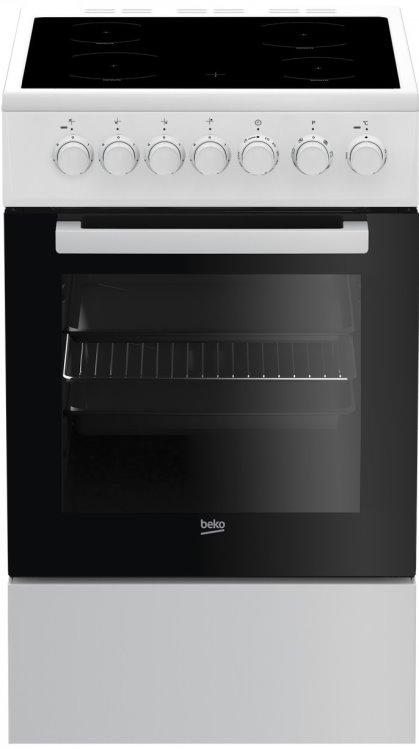 Beko FSM57100GW Elektro-Standherd mit Glaskeramik-Kochfeld/ Energieeffizienzklasse A