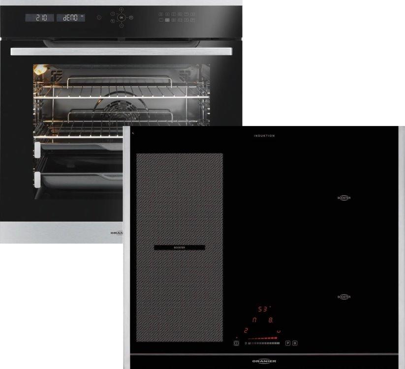 Oranier CleverSet9 990609  Einbaubackofen mit Induktionskochfeld  EBP988412+KXI206260/ Energieeffizienzklasse A+