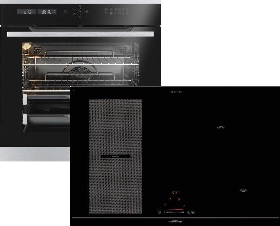 Oranier CleverSet10 990610  Einbaubackofen mit Induktionskochfeld  EBP988412+KXI208180/ Energieeffizienzklasse A+