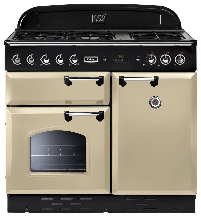 Falcon Classic 100 Range Cooker Gasherd mit Elektrobackofen cream/ Energieeffizienzklasse A