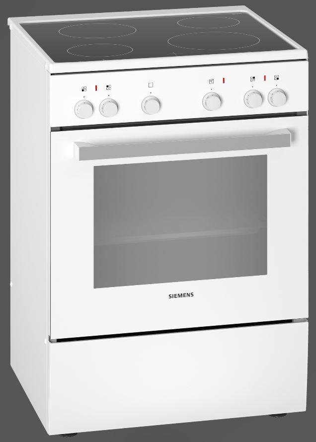 Siemens HK5P00020 Elektro-Standherd mit Glaskeramikkochfeld/ Energie