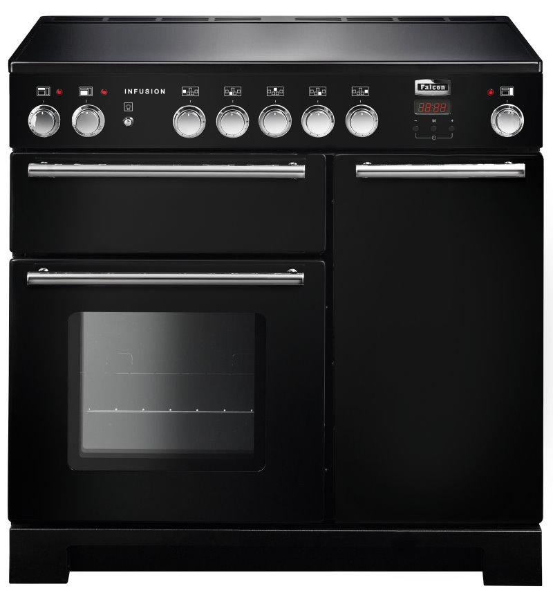 Falcon Infusion 90 Range Cooker, Elektroherd mit Induktionskochfeld, Black, Energieeffizienzklasse A