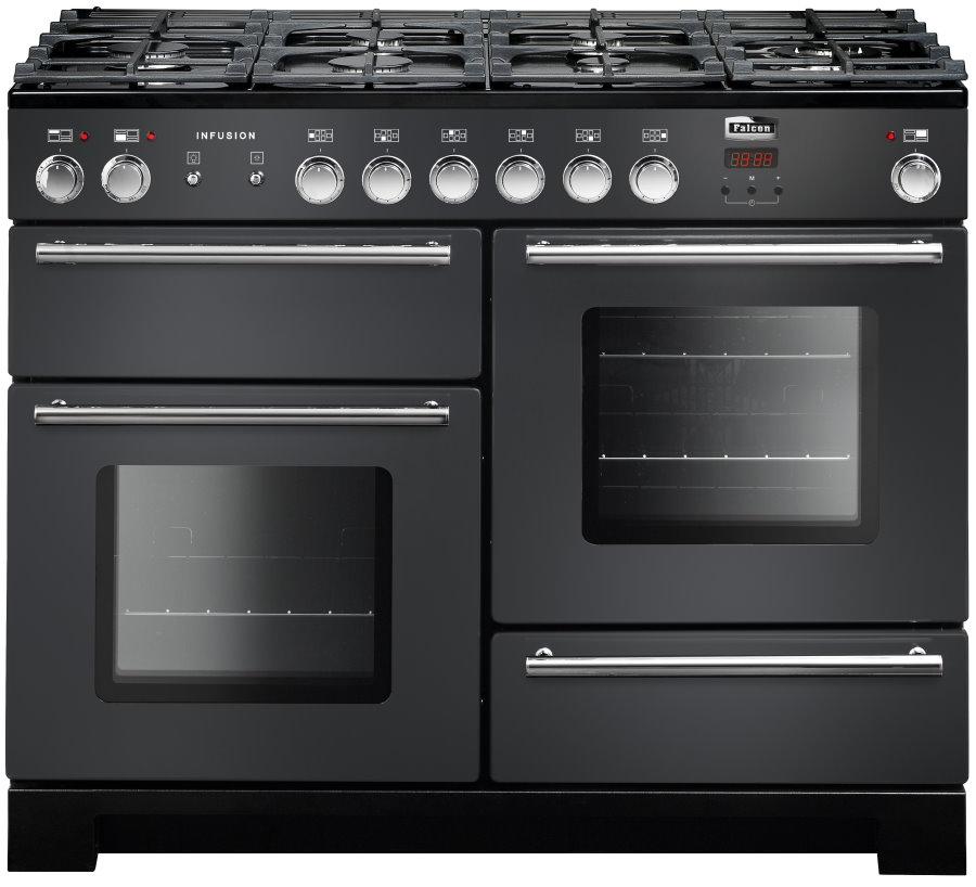 Falcon Infusion 110 Range Cooker, Gasherd mit Elektrobackofen, Slate, Energieeffizienzklassen A/B