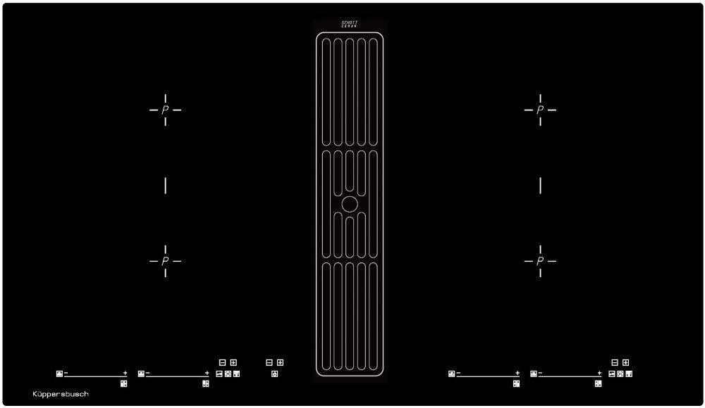 Küppersbusch KMI9800.0SR Induktionskochfeld mit Wrasenabzug/ Energieeffizienzklasse A