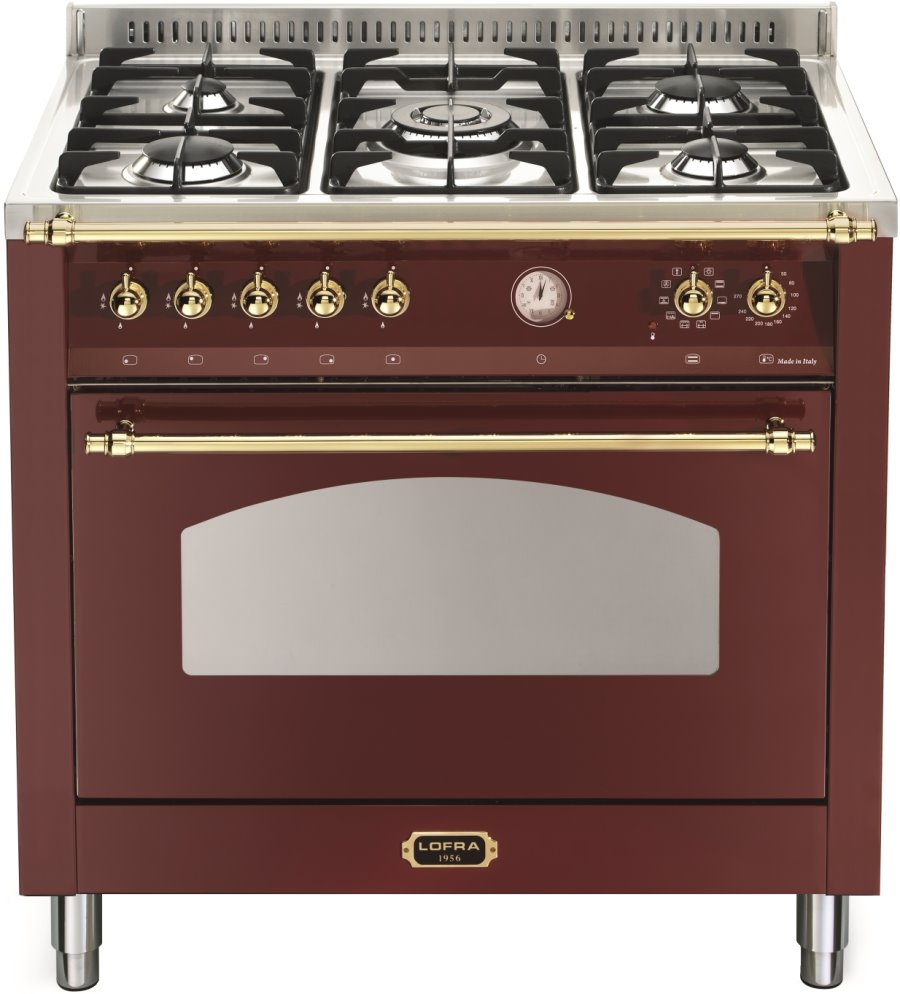 LOFRA RRG96MFT/CI DOLCEVITA Range Cooker Gasherd mit Elektrobackofen/ Energieeffizienzklasse A