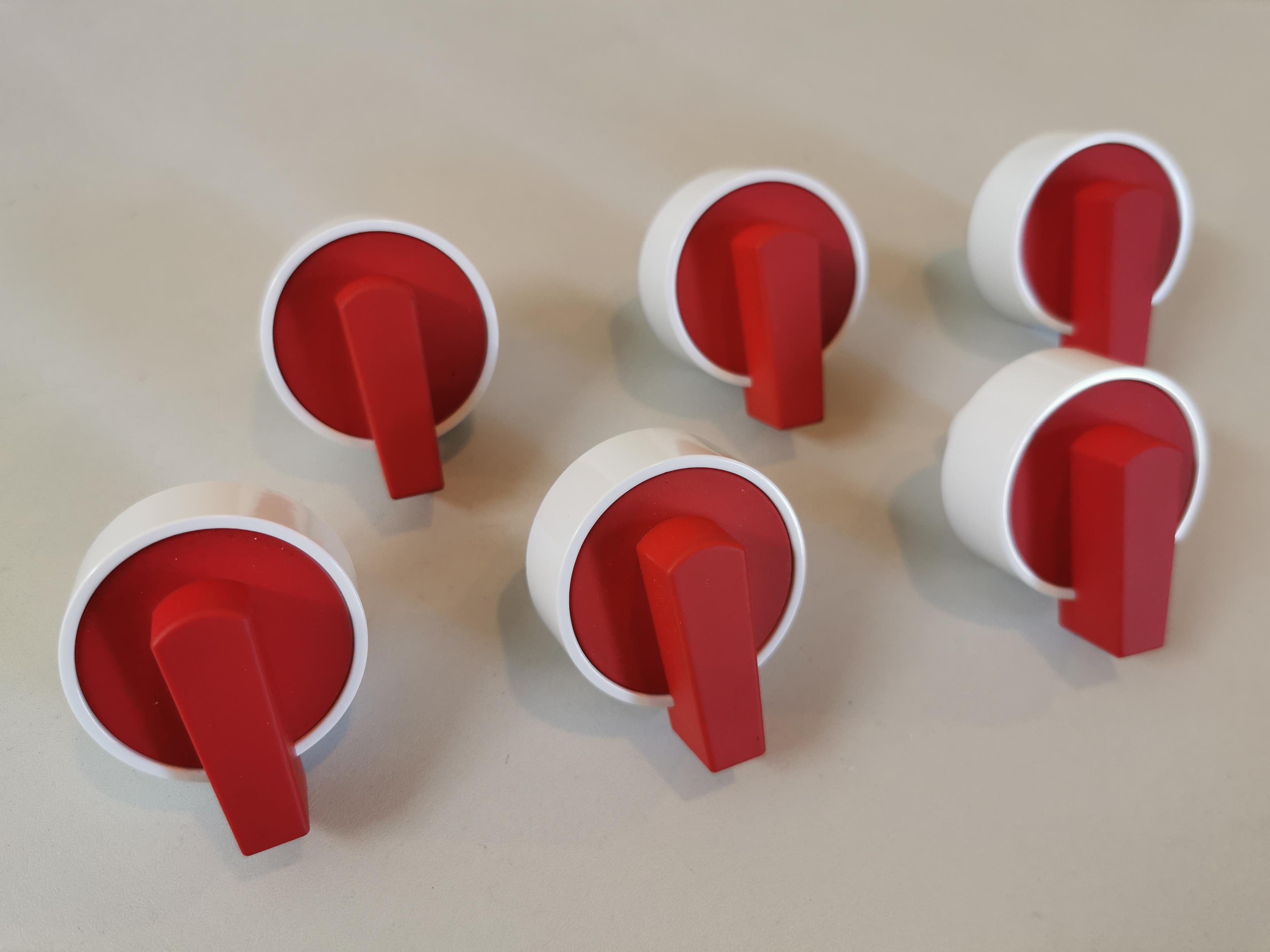 Set Knebel weiß/rot für LaGermania RI-Modelle