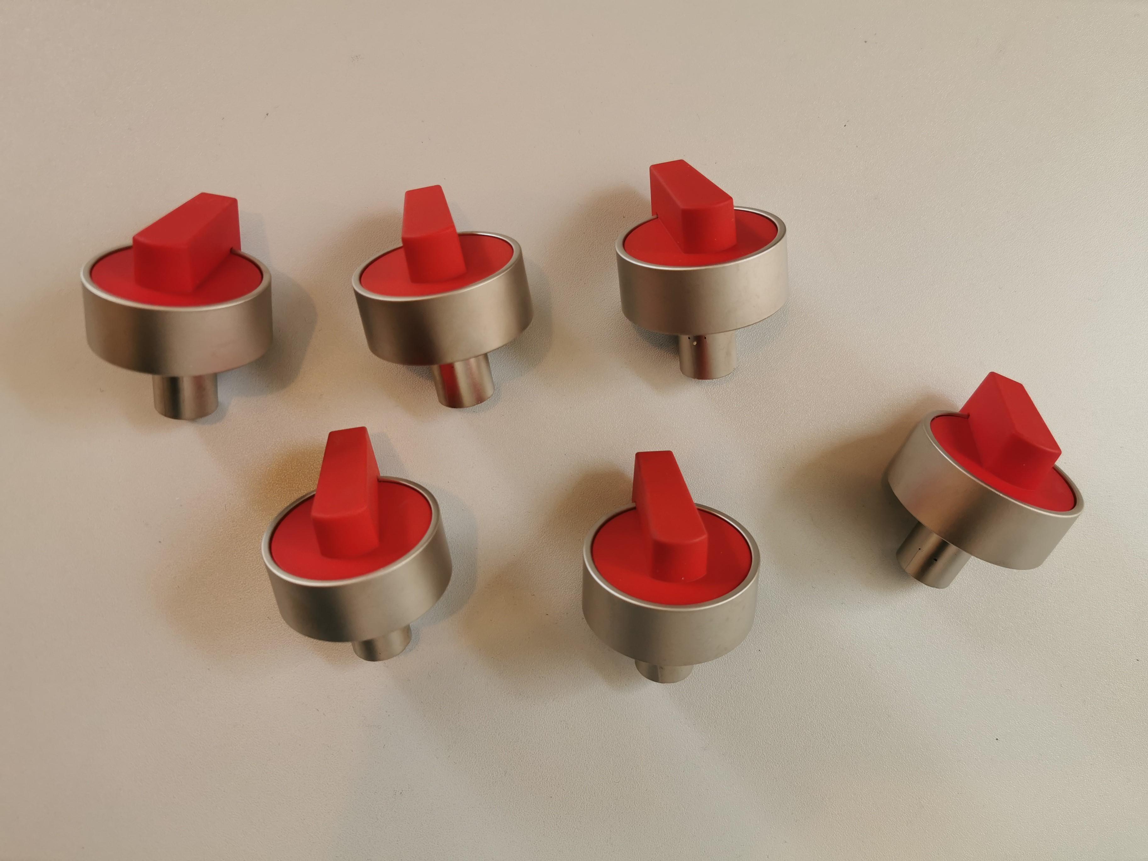 Set Knebel Silber/rot für LaGermania RI-Modelle