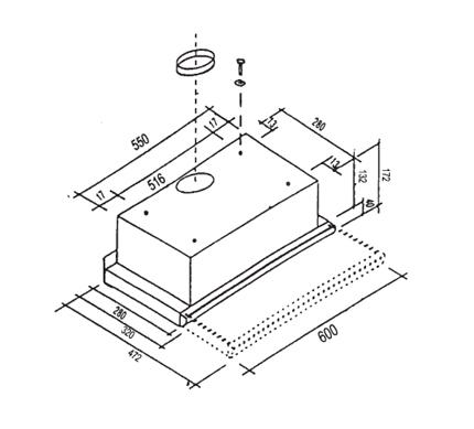 informationsseite h ttich oranier fla3 60 883904 flachschirmhaube energieeffizienzklasse e. Black Bedroom Furniture Sets. Home Design Ideas