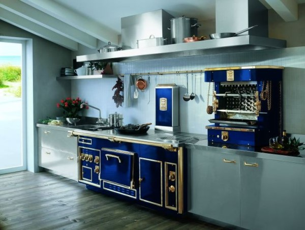Blue Vintage Kitchen Appliances