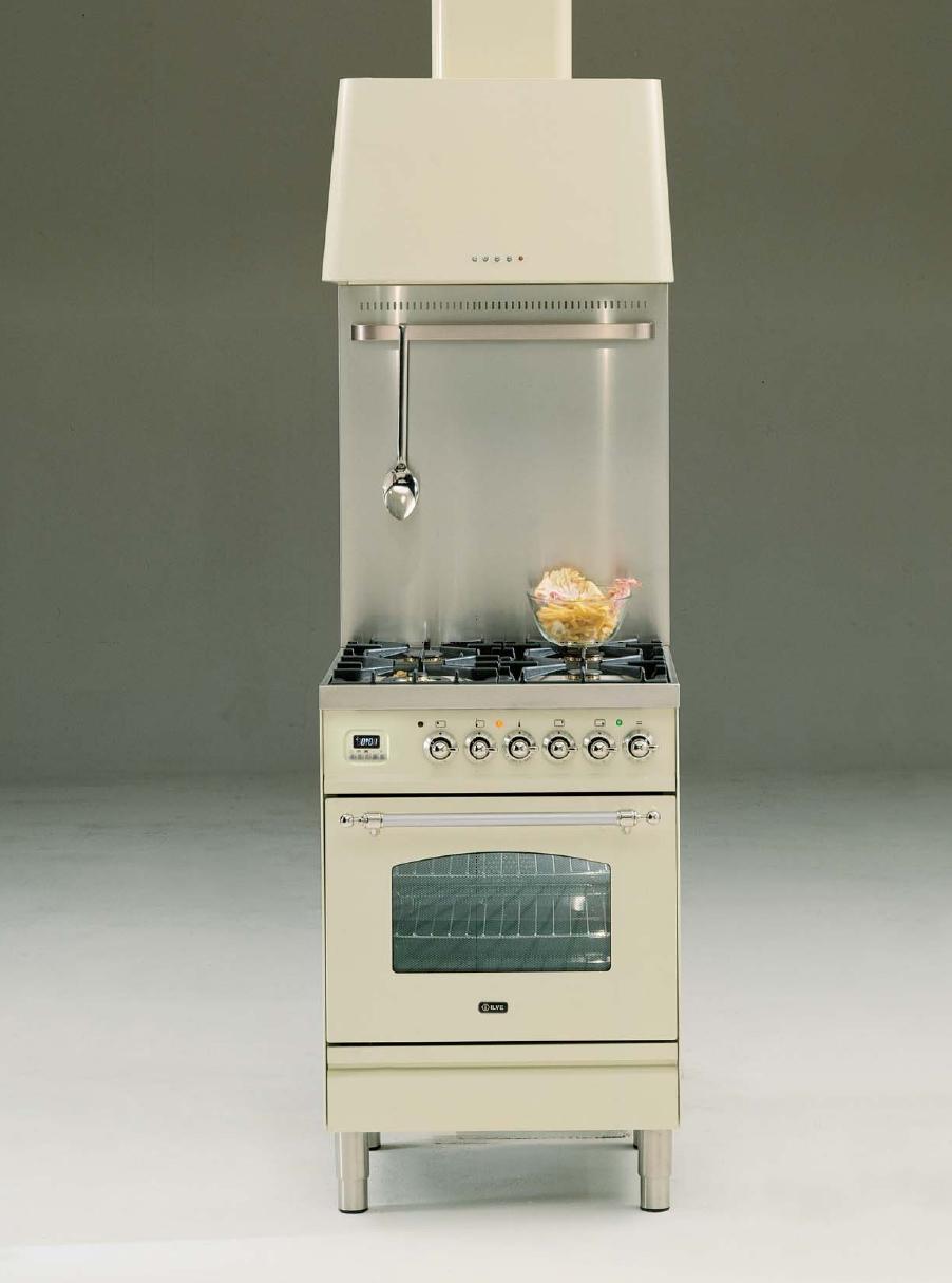 ILVE PN-60-MP Professional Plus Gasherd mit Elecktrobackofen, Nostalgie