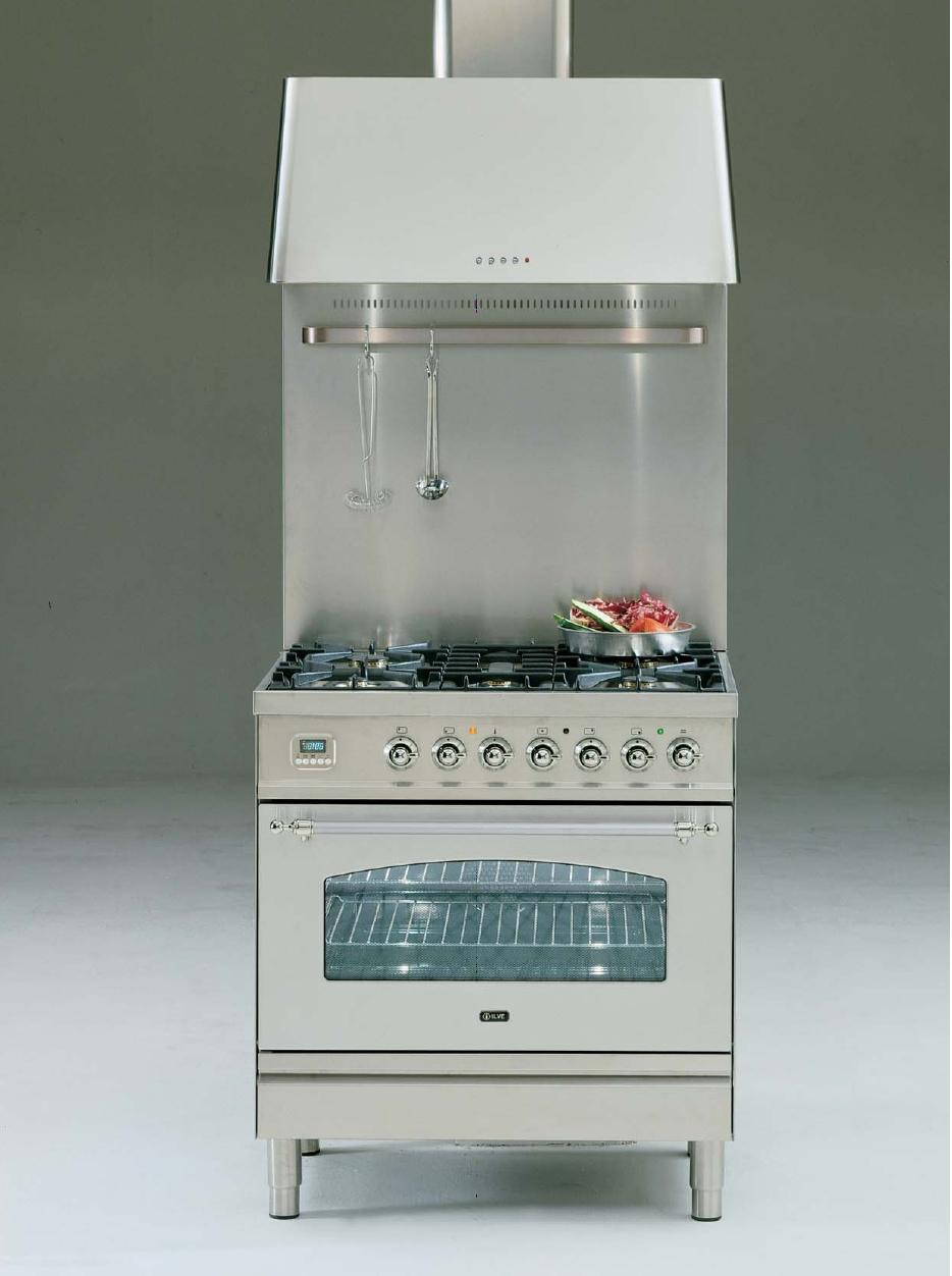 ILVE PN-80-MP Professional Plus Gasherd, Elektrobackofen, Nostalgie