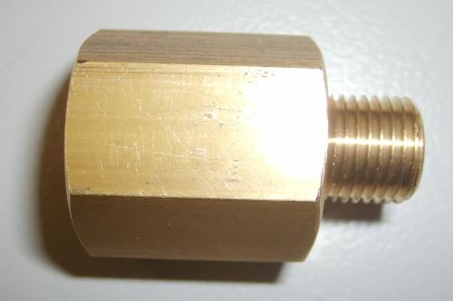 Adapter Propangas 1/2 x 1/4 Zoll gerade