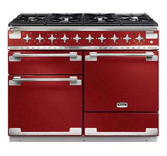 Falcon Elise 110 Range Cooker FRENCH COLLECTION, Gasherd mit Elektrobackofen, cherry red, Energieeffizienzklasse A