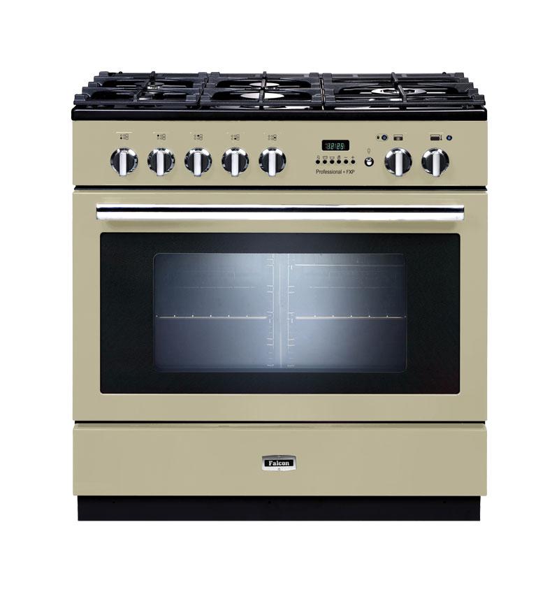 Falcon PROFESSIONAL+FXP 90 Range Cooker, Gasherd mit Elektrobackofen, cream/ Energieeffizienzklasse A