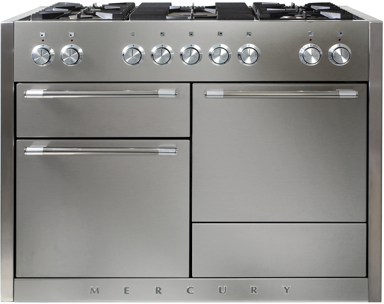 Falcon MERCURY 1200 Range Cooker, Gasherd mit Elektrobackofen, Stainless Steel/ Energieeffizienzklasse A