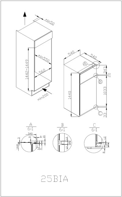 amica ekgc 16166 einbau k hl gefrierkombination. Black Bedroom Furniture Sets. Home Design Ideas