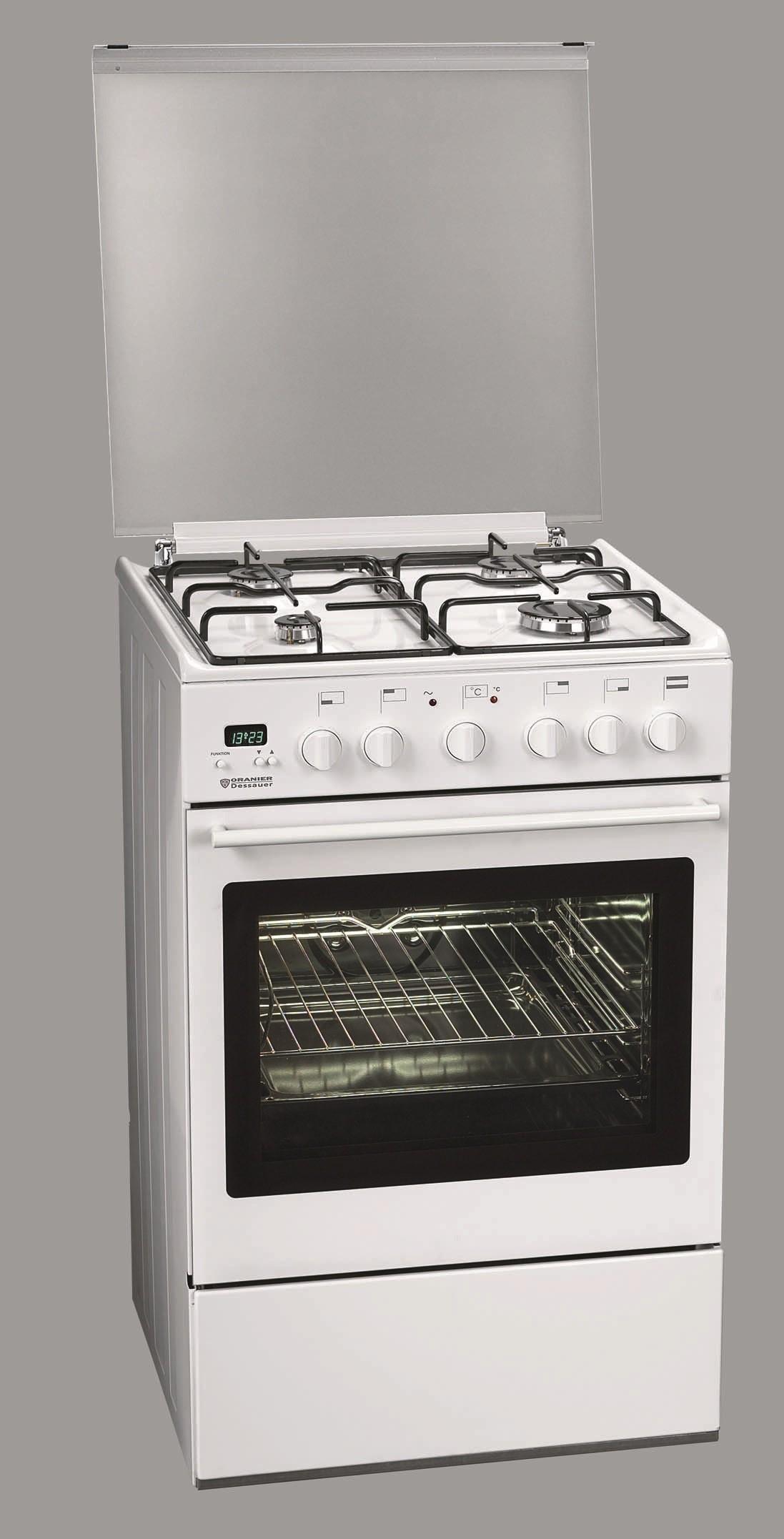 oranier dessa r fue2555 27 gas elektro standherd energieeffizienzklasse b. Black Bedroom Furniture Sets. Home Design Ideas