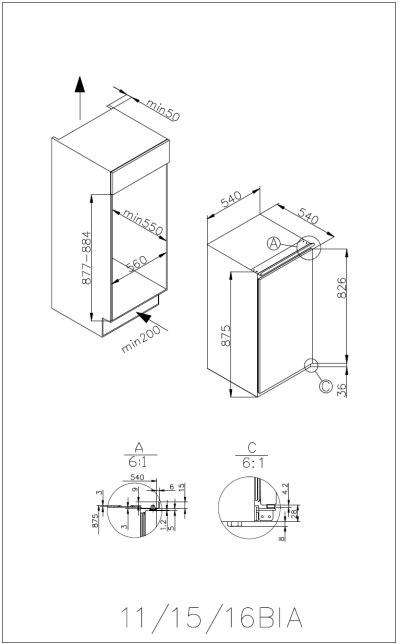 informationsseite h ttich amica evks 16162 einbau k hlschrank energieeffizienzklasse a. Black Bedroom Furniture Sets. Home Design Ideas