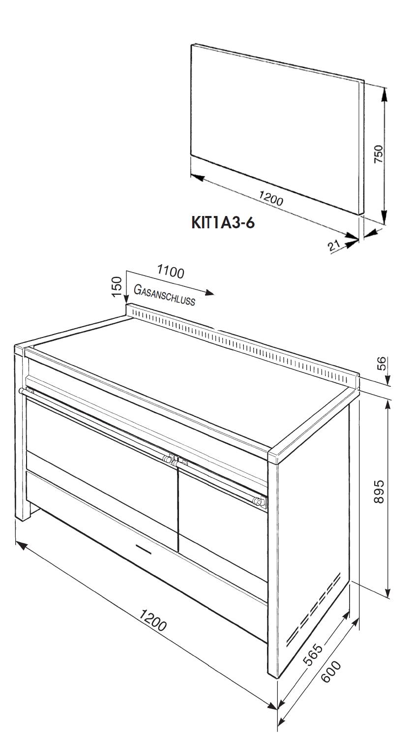 gasherd elektrobackofen beste wohndesign und. Black Bedroom Furniture Sets. Home Design Ideas
