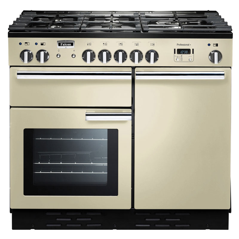 Falcon PROFESSIONAL+ 100 Range Cooker, Gasherd mit Elektrobackofen, cream/ Energieeffizienzklasse A