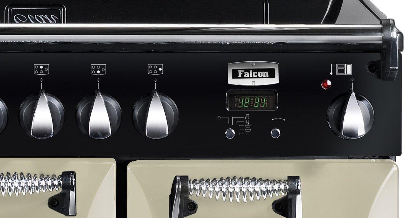 falcon elan 90 range cooker elektro standherd mit induktionskochfeld cream. Black Bedroom Furniture Sets. Home Design Ideas