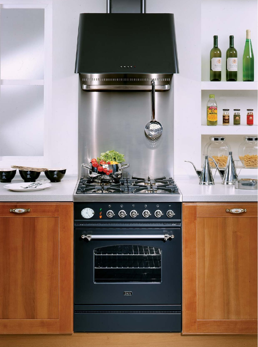 ilve p 60n mp professional gasherd mit elektrobackofen. Black Bedroom Furniture Sets. Home Design Ideas