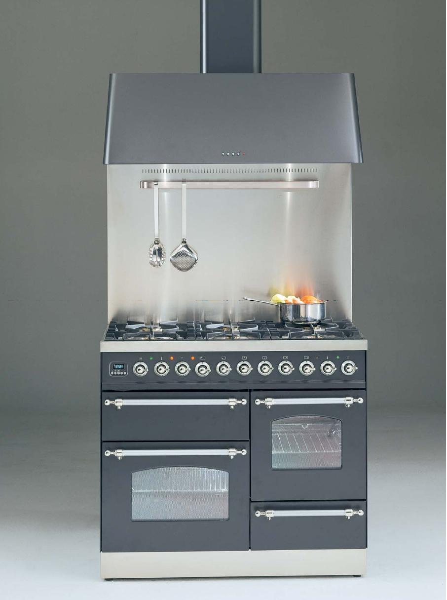ILVE PTN-1006-MP Professional Plus Gasherd, Elektrobackofen, Nostalgie