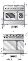ILVE QDC-90-MP Quadra Classic Gasherd mit Elektrobackofen